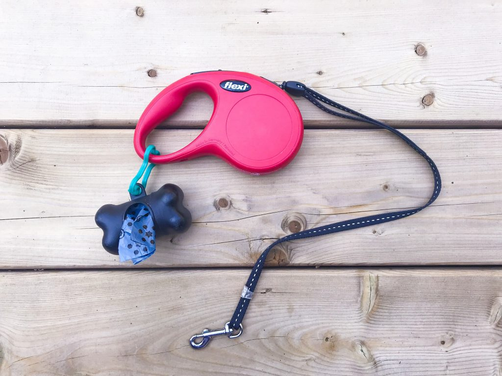 What's in Marlee's Dog Overnight Bag - Leash and Poop Bags