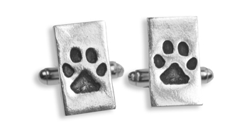Father's Day Gift Guide for Dog Dads - Personalized Paw Print Cufflinks