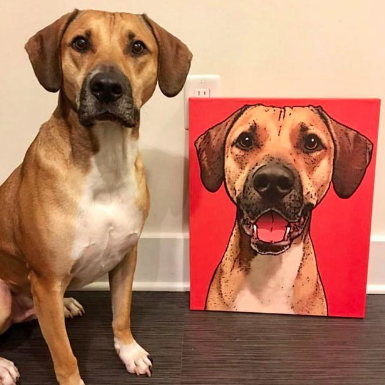 Father's Day Gift Guide for Dog Dads - Pop Your Pup Personalized Canvas
