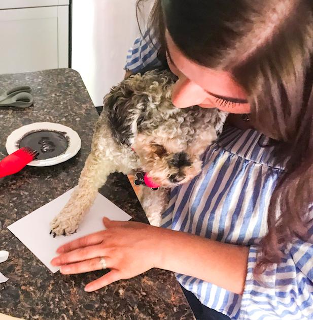 DIY Pet Safe Ink Paw Print Picture - Making Marlee's Paw Print